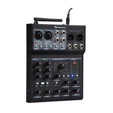 Mesa de mezclas DJ Mixer de 6 canales Bluetooth USB MP3 2 Micrófonos XLR Negro