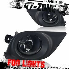 Clear Lens Black Bezel Fog Light Lamps For 12-14 Nissan Versa 4-DR Sedans