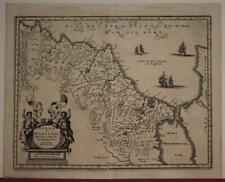 MOROCCO 1646 MATTHÄUS MERIAN UNUSUAL ANTIQUE ORIGINAL COPPER ENGRAVED MAP