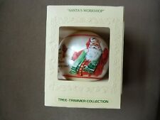 Hallmark Satin Ornament - Santa's Workshop 1980 Christmas Nib