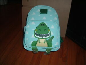 LOUNGEFLY PIXAR TOY STORY ROARING REX MINI BACKPACK~ WITH TAGS~BRAND NEW~