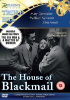Nuovo The Casa Di Ricatto/The Six Men/A Matter Of Murder DVD