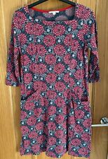 White Stuff ladies dress red grey size UK 10 worn a few times