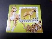 GUINEE 1985, BLOC timbre aérien 187, CHIEN BOXER, neuf**, MNH, DOG