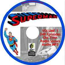 The Adventures of Superman - Volume 1 - 248 Old Time Radio Shows - Audio MP3 CD