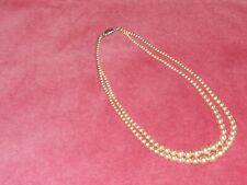 "strand 17"" long Diamante clasp Vintage imitation Pearl Necklace 2"