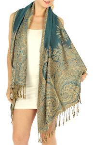 Fashion luxury Paisley Pashmina Scarf Shawl Wrap 17 COLORS
