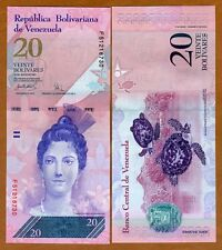 Venezuela, 20 Bolivares, 2007 (2008), P-91, UNC   Woman, Sea Turtles