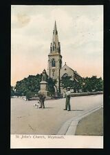 Dorset WEYMOUTH St John's Church Used 1907 PPC local publisher H. Cumming