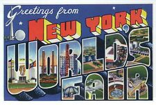 Greetings from New York World's Fair, NY Exposition Modern Large Letter Postcard