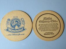 Vintage Beer Coaster ~ Monchshof Brau ~ Kulmbacher Brauerei ~ Germany Since 1349