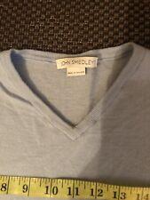 mens john smedley medium Pale Blue V Neck Wool Jumper