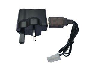 Tamiya Connector 7.2v NiCd NiMH Battery USB + UK Mains Charger RC Car Boat Tank
