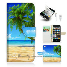 ( For iPhone 5 / 5S / SE ) Wallet Case Cover! Beach Tree Sea P0282
