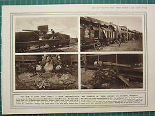 1915 WWI WW1 PRINT ~ UNION ARMOURED-TRAIN WAR IN SOUTH WEST AFRICA