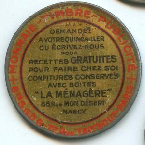 Timbre Monnaie Nancy La Ménagère 10 Centimes Rouge