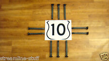 """10 NEW 6.75"""" Large Variety Railroad Spikes Track LOT Carbon Steel Arts Crafts"""