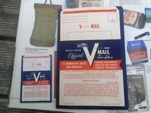 Kit V-mail Us Ww2 Gi WWII Para Américain D-day 39 45 USA