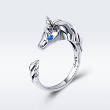 925 Sterling Silver Beautiful unicorn Ring Charm luxury gorgeous Women Jewelry