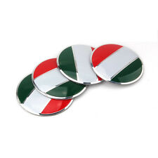 Italian Italy Flag Auto Car Wheel Center Hub Caps Cover emblem Sticker 56mm 4pcs