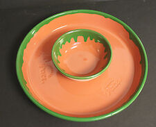 Retired PACE PICANTE Chip & Dip Platter and Matching Sauce Bowl Server