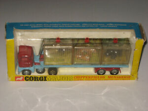 Corgi Toys No. 1139 Chipperfield's Circus Menagerie Scammel Cab Complete NMIB