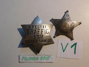 Polizei Sammlungs Auflösung , Abzeichen USA Sheriff Sterne Traffic / School