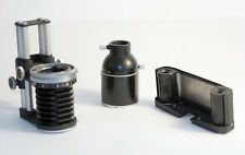 Zeiss Contarex Accessories, Bellows, Microscope Adapter, 35mm Film Back.