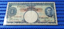 1941 Board of Commissioners of Currency Malaya $1 Note D/1 061297 KGVI Currency