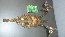 Ancienne superbe applique double en bronze ROCAILLE LOUIS XV à décor de coquille