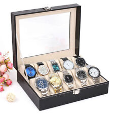 Caja para 10 de Relojes Soporte de Exhibición de Reloj organizador con cerradura