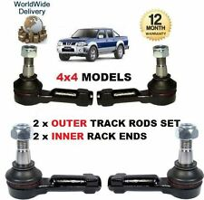 FOR NISSAN NP300 & PICKUP D22 4x4 1998--> 2 x OUTER & 2x INNER TRACK TIE ROD END