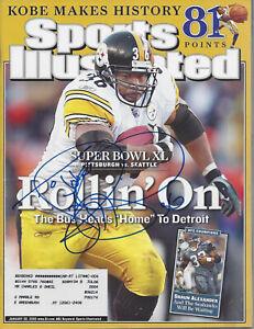 Jerome Bettis Pittsburgh Steelers Autographed Sports Illustrated Magazine COA