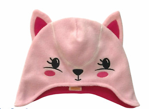 Gymboree Fair Isle Flurry Pink Kitty Fleece Hat Sz 2T-3T NWT