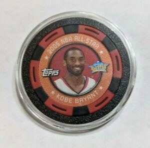 Kobe Bryant 2005-06 NBA Topps poker collector chip Red/Black All-Star LA Lakers