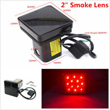 """12 LED Brake Tail Light Trailer Hitch Cover Fit For Towing & Hauling 2"""" Receiver"""