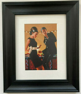 Let's Twist Again by Jack Vettriano Framed & Mounted Art Print Picture Black