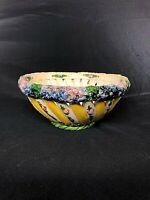 Ceramic Bowl...Hand made  Vintage Neapolitan Majolica bowl...Made in Italy
