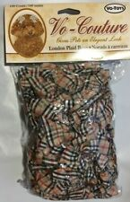 VOTOYS COUTURE BURBURRY ELEGANT LONDON PLAID 100CT DOG BOWS WOW BOW WITH GEMS