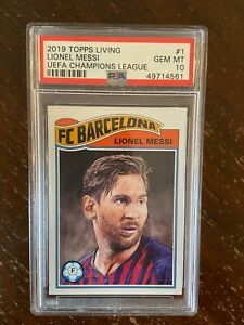 2019 Topps Living Lionel Messi #1 PSA 10 #49714561