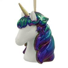 "NEW 2019 Hallmark 4"" Metallic Unicorn Porcelain Christmas Ornament 1HDL2127"