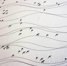 Stoff Meterware Baumwolle Schweden Zugvögel schwarz weiß Vögel Neu