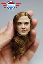 """【IN STOCK】1/6 scale Emma Watson Female Head Sculpt 5.0 for 12"""" PALE PHICEN body"""