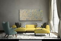 ORIGINAL Large Abstract Painting Acrylic Splatter Painting