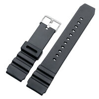 New Casual Men Boy Black Silicone Pin Buckle Wrist Watch Strap Band 18/20/22mm
