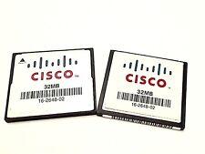 LOT 2X GENUINE CISCO 32MB COMPACT FLASH CARD 17-6715-01 / 16-2648-02