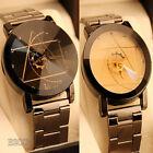 Luxury Men Women Watch Compass Stainless Steel Quartz Analog Dress Wrist Watches