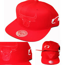 Mitchell & Ness Chicago Bulls Red Snapback Hat 1996 NBA Final Champion Side Logo