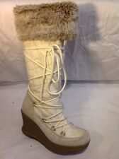 Aldo Grey&White Knee High Boots Size 39