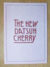 DATSUN CHERRY RANGE orig 1980 UK Mkt Sales Brochure - Nissan